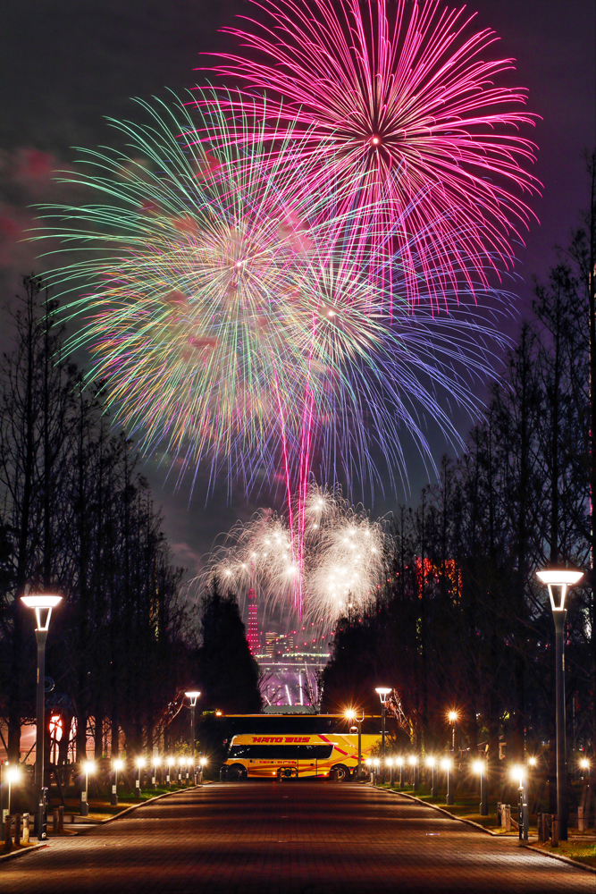 Fireworks of promenade