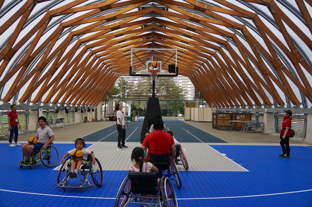 We experience wheelchair basketball