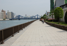 The Sumida River terrace