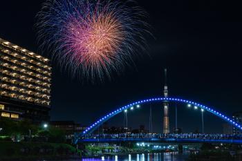 Kameido fireworks display