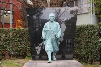 The Tomioka Hachimangu Shrine precincts (image of Ino Tadataka)