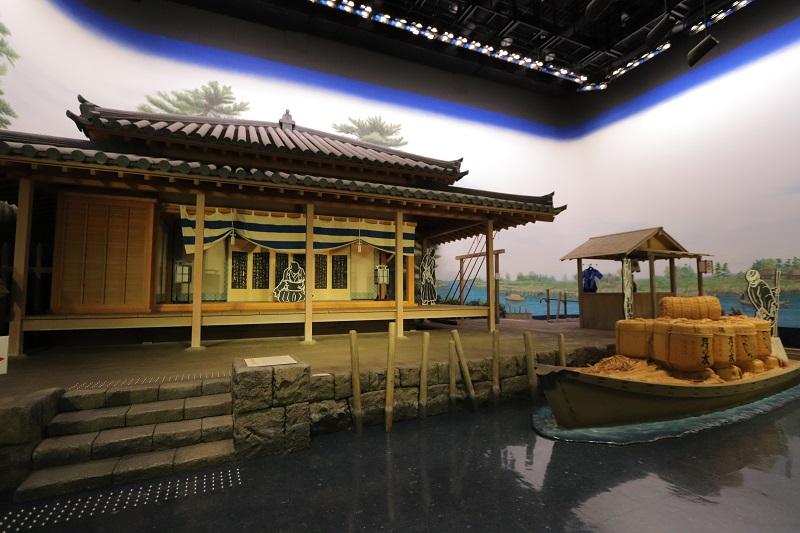 [江東這個市鎮那個人]再現在中川船番所資料館久染健夫資料館3樓的中川崗哨的世界全景大圓球