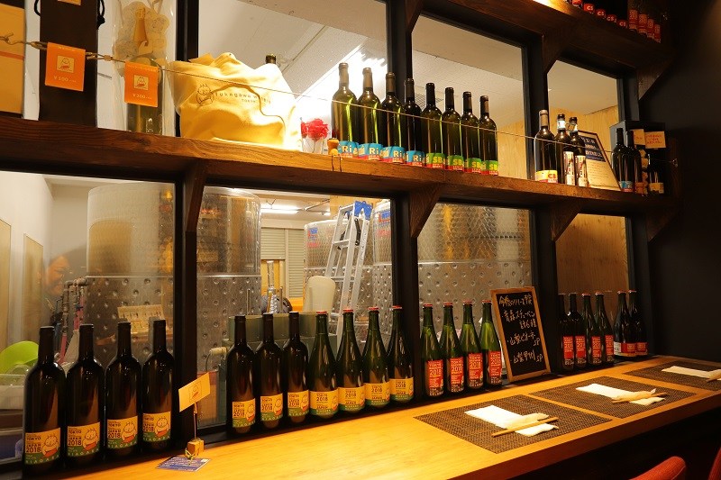 "[Koto Who's who in Koto-ku] Sampling place that can look at ""Fukagawa winery Tokyo"" brewing long Kosuke Ueno brewing room. We can enjoy a la carte menu"