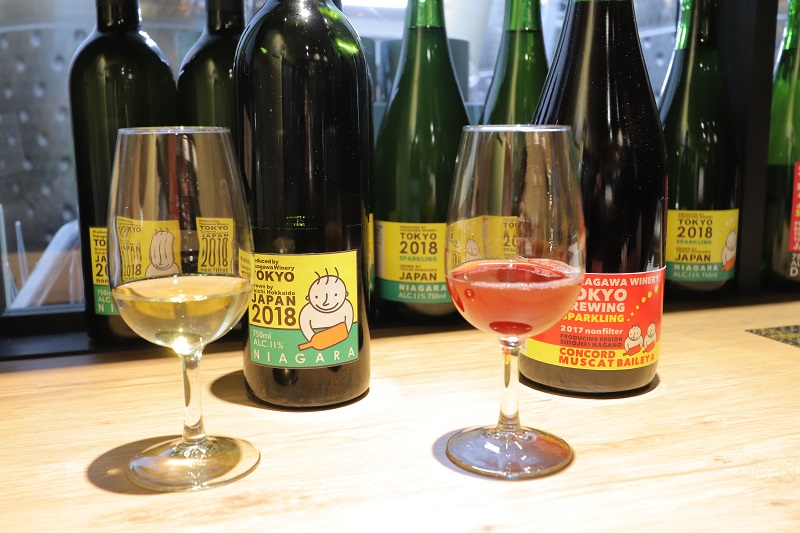 "[Koto Who's who in Koto-ku] ""Fukagawa winery Tokyo"" brewing long Kosuke Ueno Niagara orange wine (white, one 2,592 yen), Concord + muscat berry A (red, one 2,300 yen)"