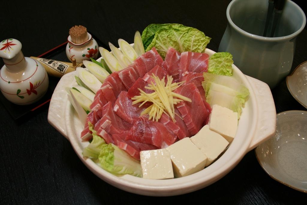 """[江東這個市鎮那個人]把店主大山敏博肥生魚片大量用於的""""蔥金槍魚鍋""""fuka河""""1穗""""(issui)是招牌菜單"""